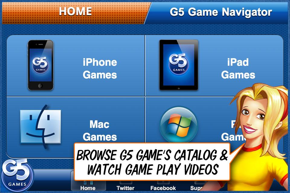 Screenshot Games Navigator – By G5 Games